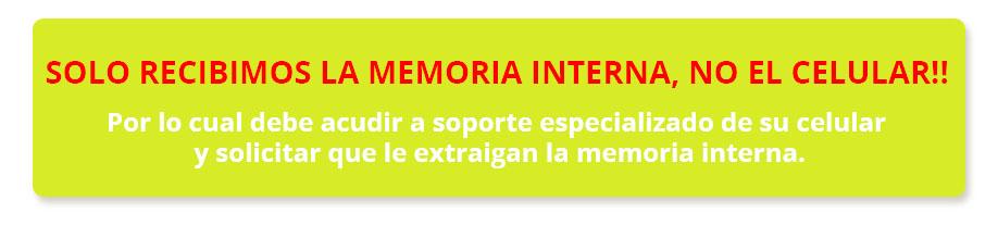 recepción memoria interna celular