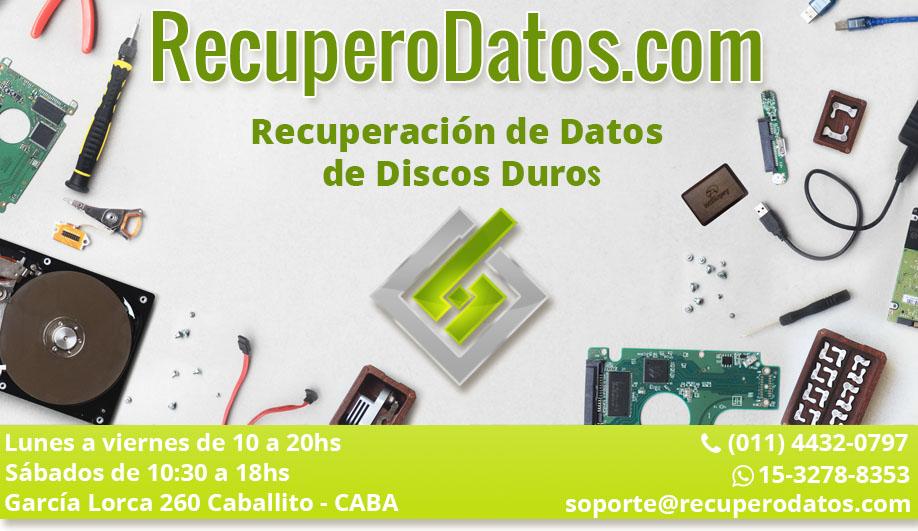 recuperación de datos en discos duros dañados