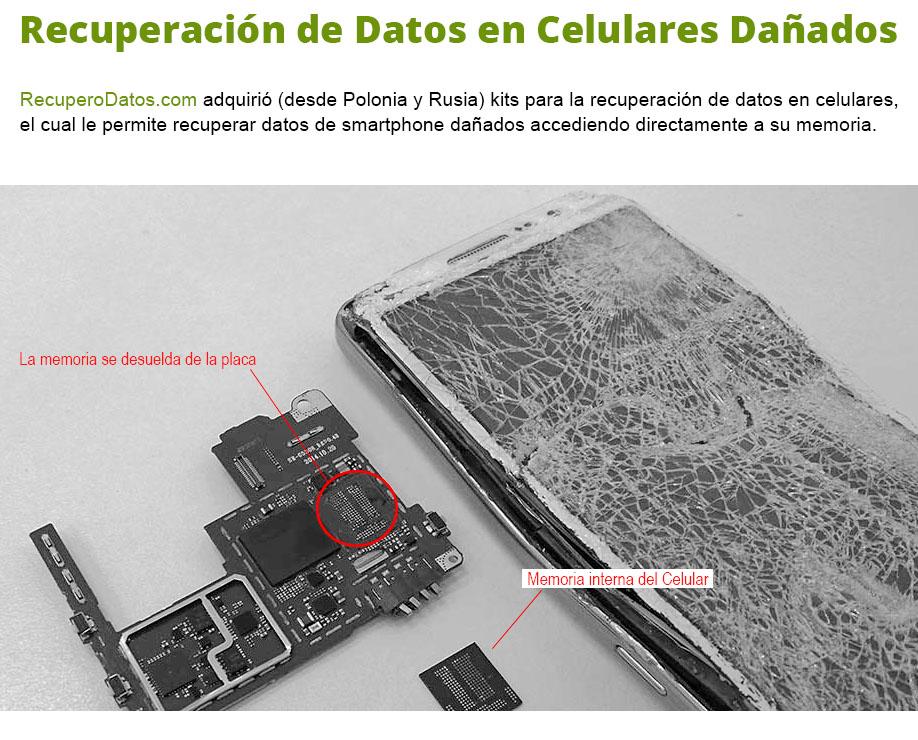 recuperación de datos en celulares