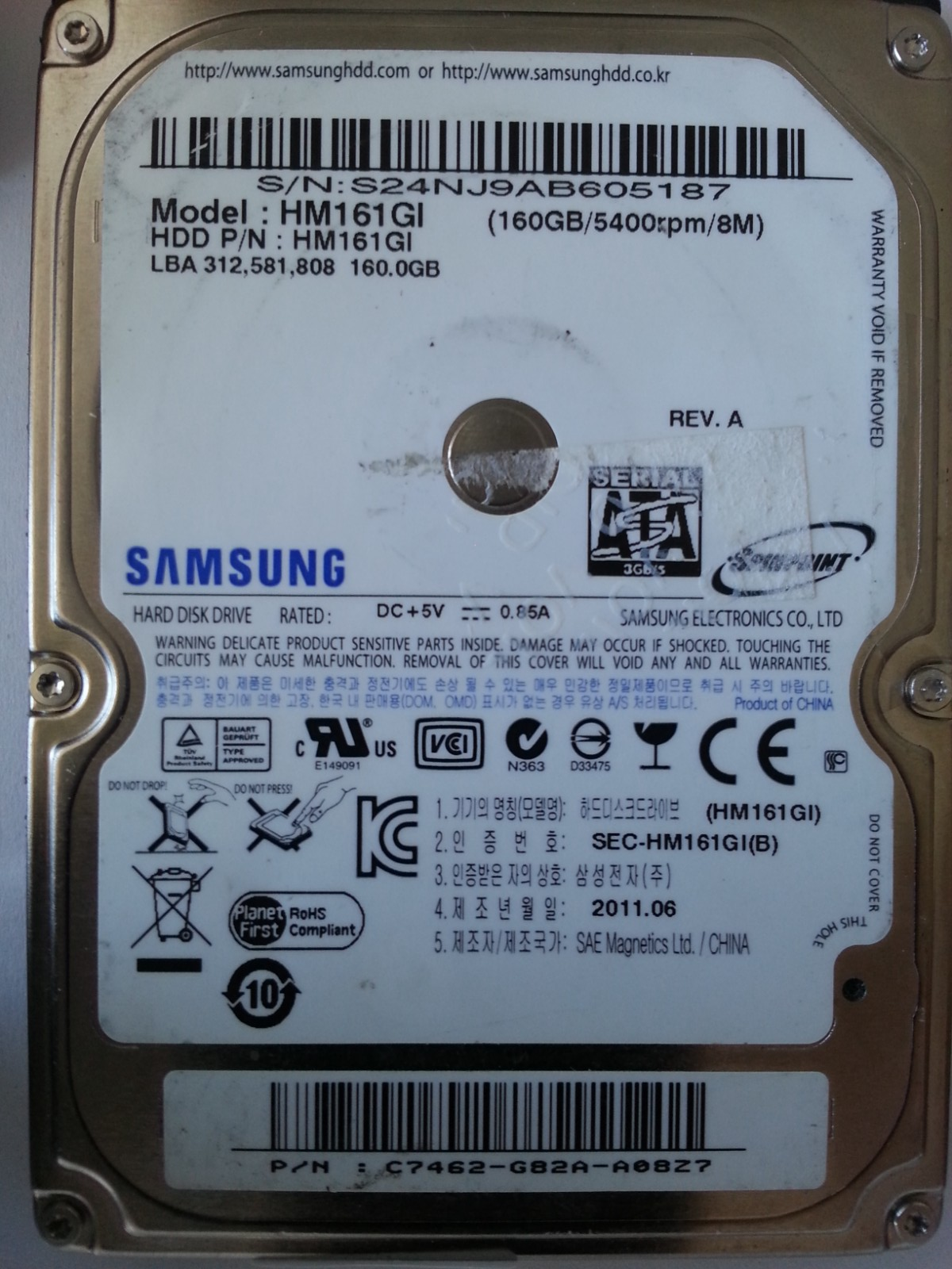 SAMSUNG HM161GI WINDOWS XP DRIVER