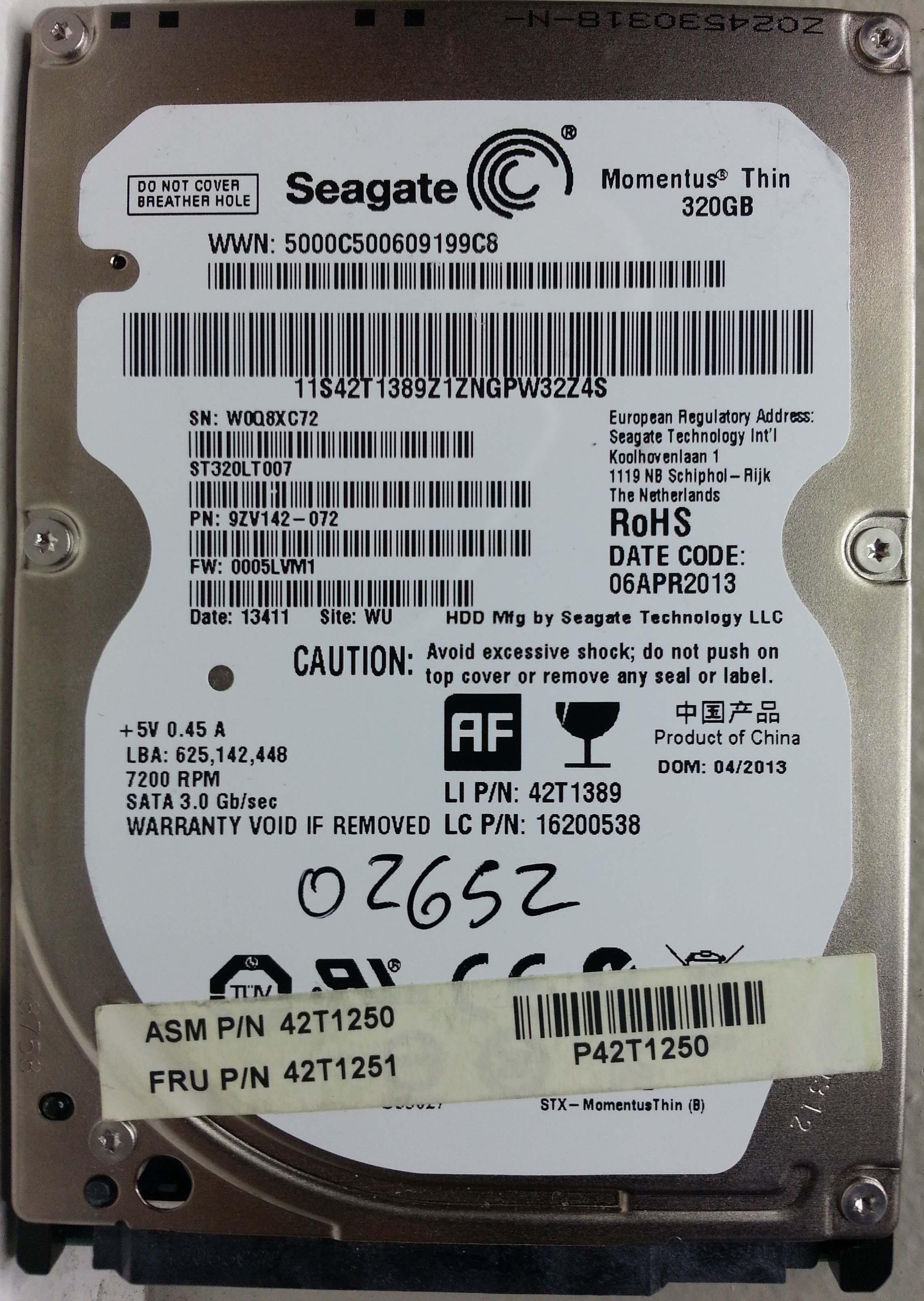 Seagate ST320LT007 320GB SATA | RecuperoDatos com